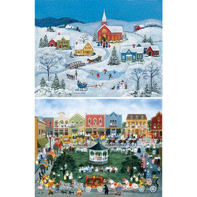Set of 2: Mary Singleton 500 Piece Jigsaw Puzzles