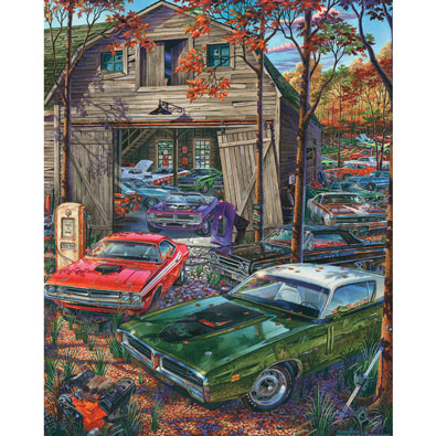 Cars on the Farm 1000 Piece Jigsaw Puzzle