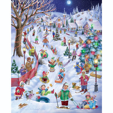 Sledding Hill 1000 Piece Jigsaw Puzzle