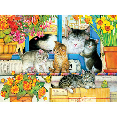 Welcome Mat Kittens 500 Piece Jigsaw Puzzle