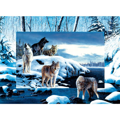 Ice Wolves 1000 Piece Jigsaw Puzzle