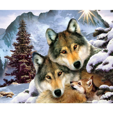 Wolves in Harmony 1000 Piece Jigsaw Puzzle