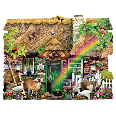 Irish Cottage 1000 Piece Shaped Jigsaw Puzzle