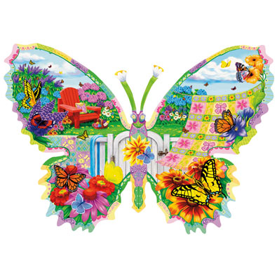 Butterfly Summer 1000 Piece Shaped Jigsaw Puzzle