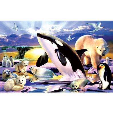 Polar Kingdom 100 Large Piece Jigsaw Puzzle