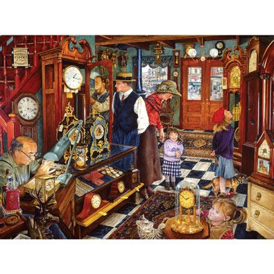 The Clock Shop 1000 Piece Jigsaw Puzzle
