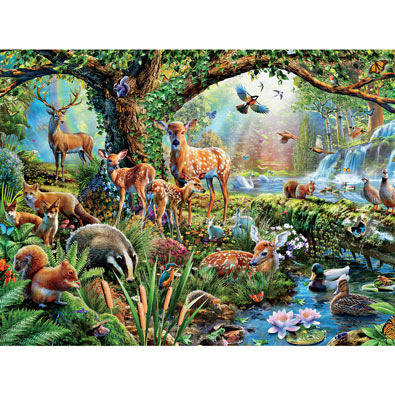 Woodland Creatures 1500 Piece Giant Jigsaw Puzzle