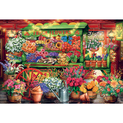 Flower Market 2000 Piece Giant Jigsaw Puzzle