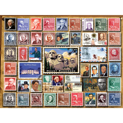 Presidential Stamps 1000 Piece Jigsaw Puzzle