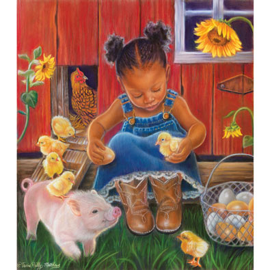 Barn Babies 300 Large Piece Jigsaw Puzzle