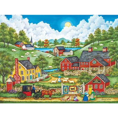 A Roadside Visit 550 Piece Jigsaw Puzzle
