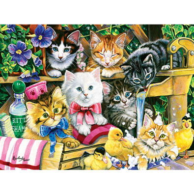 Bathtime Kittens 300 Large Piece Jigsaw Puzzle