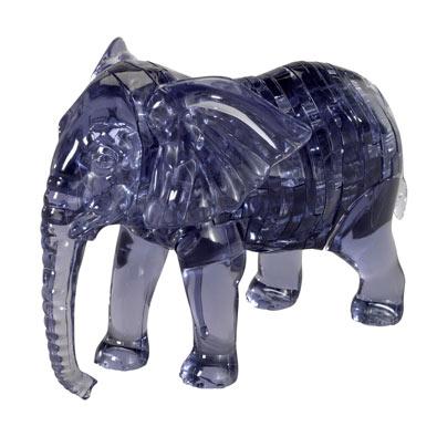 3D Crystal Elephant Puzzle