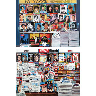 Set of 2: Newsstand 1000 Piece Jigsaw Puzzles