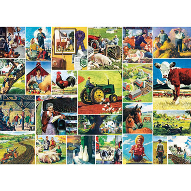 Farmland Collage 1000 Piece Jigsaw Puzzle