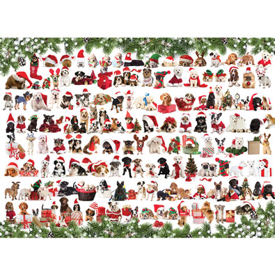 Christmas Puppies 1000 Piece Jigsaw Puzzle