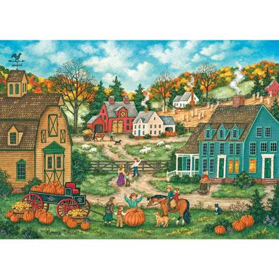 Grandpa's Giant Pumpkin 500 Piece Halloween Jigsaw Puzzle