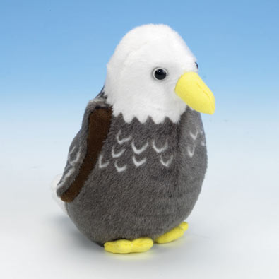 Singing Plush Song Bird - Bald Eagle