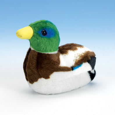 Singing Plush Song Bird - Mallard Duck