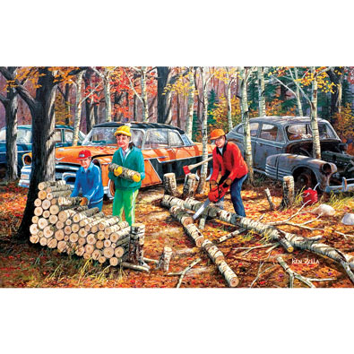 Fall Chores 550 Piece Jigsaw Puzzle