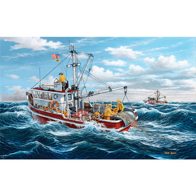 Out of Port Kodiak 550 Piece Jigsaw Puzzle