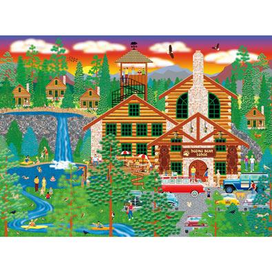 Dozing Bear Lodge 500 Piece Jigsaw Puzzle