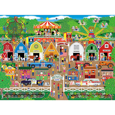 Farm County Fair 500 Piece Jigsaw Puzzle