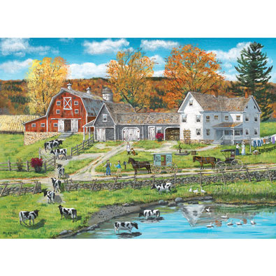 Farm by the Lake 300 Large Piece Jigsaw Puzzle
