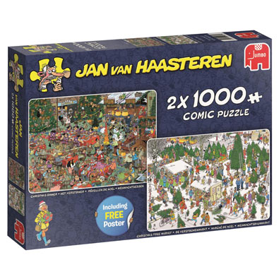 Christmas 2 in 1 Multipack Set 1000 piece jigsaw puzzles