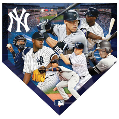 MLB Home Plate Shaped Jigsaw- Yankees