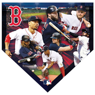 MLB Home Plate Shaped Jigsaw- Red Sox