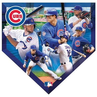 MLB Home Plate Shaped 500 Piece Jigsaw- Cubs