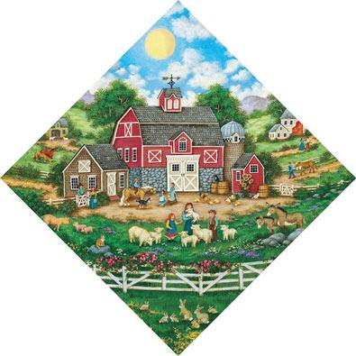 Barn Yard Menagerie 500 Piece Jigsaw Puzzle