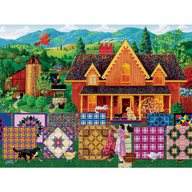 Morning Day Quilt 500 Piece Jigsaw Puzzle