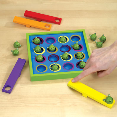 Wooden Frog Flipper Game