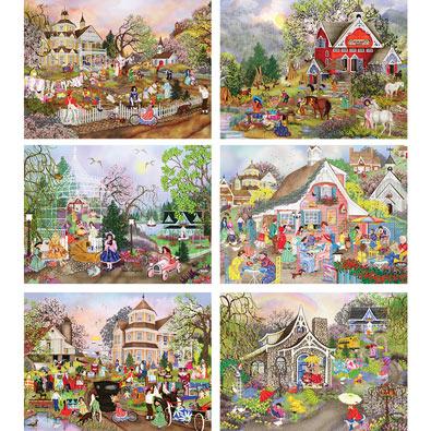 Set of 6: Tuula Burger 1000 Piece Jigsaw Puzzles