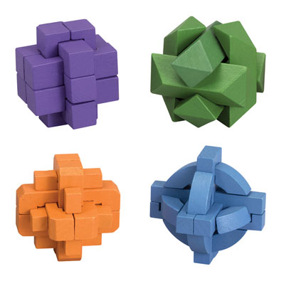Four Colorful Brainteasers