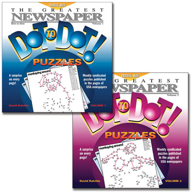 Set of 2: Newspaper Dot to Dot Books - Volumes 1 & 2