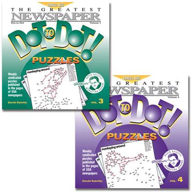 Set of 2: Newspaper Dot to Dot Books - Volumes 3 & 4