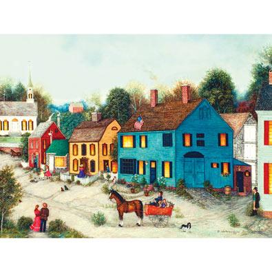 Village Main Street 300 Large Piece Jigsaw Puzzle