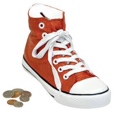 Red High-Top Sneaker Bank