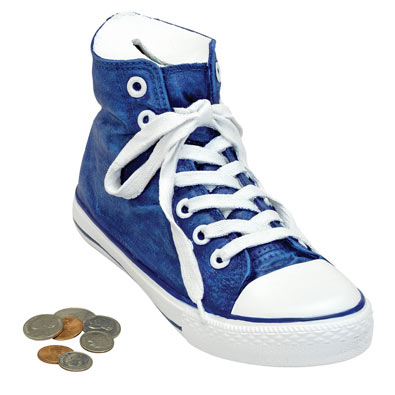 Blue High-Top Sneaker Bank