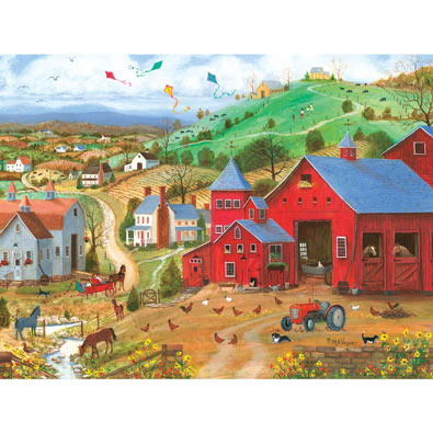 Hens & Chicks 300 Large Piece Jigsaw Puzzle