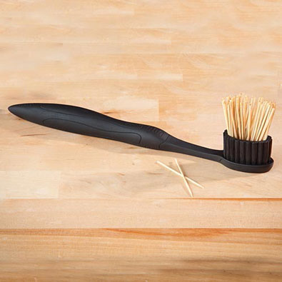 Toothbrush Shaped Toothpick Holder