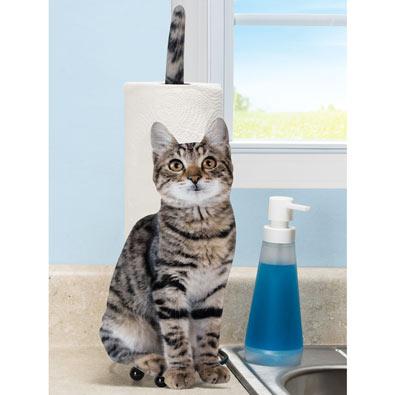 Kitty Paper Towel Holder