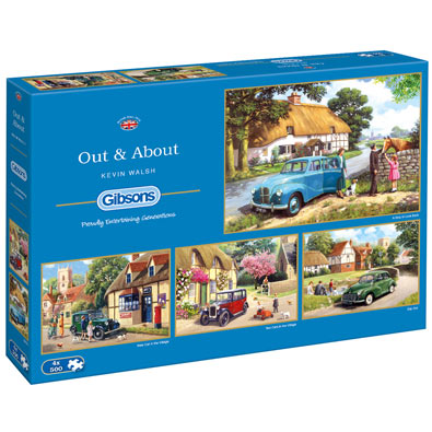 Out and About 500 Piece Multi Pack Jigsaw Puzzle
