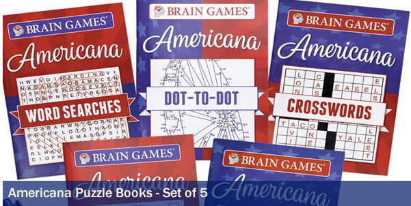 AMERICANA PUZZLE BOOK- SET OF 5