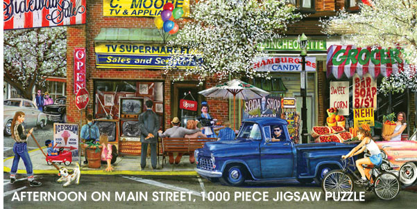 Afternoon on Main Street 1000 Piece Jigsaw Puzzle