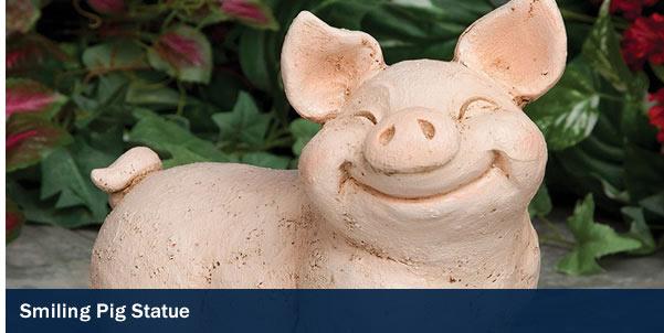 Smiling Pig Statue