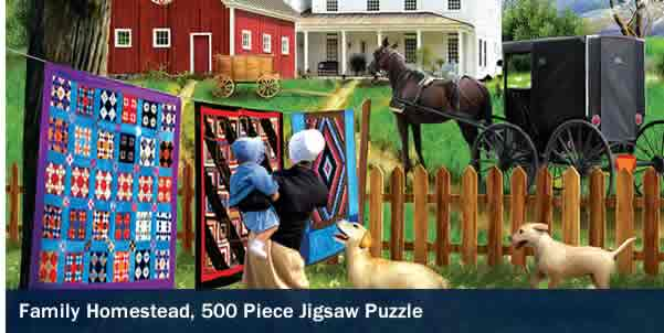 Family Homestead 500 Piece Jigsaw Puzzle